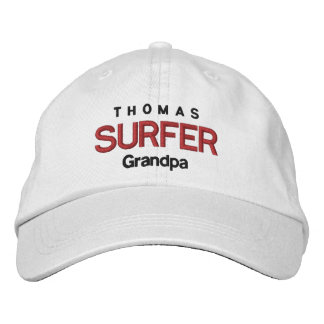 SURFER GRANDPA Personalized Adjustable Hat V07A Embroidered Hats