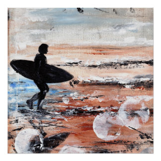 Surfer Walking Art Print