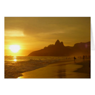 Surfers at Sunset Card
