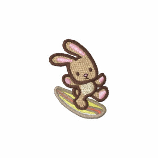 Surfing Bunny Embroidered Knits and Sweatshirts