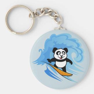 Surfing Panda Key Ring
