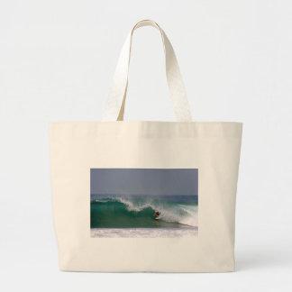 Surfing Puerto Escondido Mexico Large Tote Bag