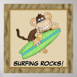 Surfing Rocks! Poster