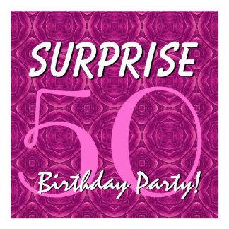 SURPRISE 70th Birthday Magenta and Purple V001 Custom Invites