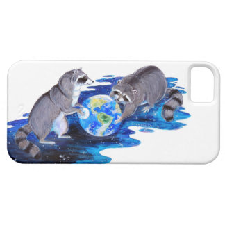 Surrealism Fantasy Raccons Playing in Space iPhone 5 Covers