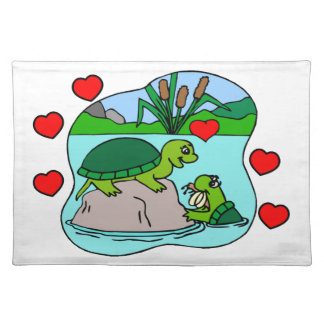 Surrounded By Turtle Love Placemat