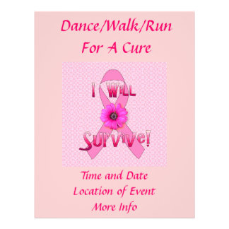 Survive Breast Cancer 21.5 Cm X 28 Cm Flyer
