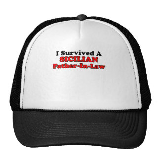 Survived Sicilian Father In Law Mesh Hats