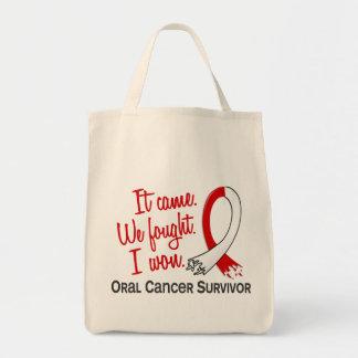 Survivor 11 Oral Cancer Grocery Tote Bag