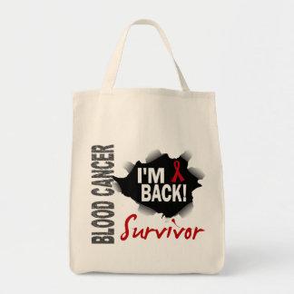 Survivor 7 Blood Cancer Grocery Tote Bag