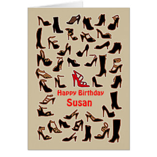 Susan Shoes Happy Birthday Card