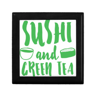 sushi and green tea small square gift box