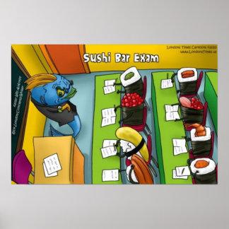 Sushi Bar Exam Poster