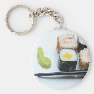 Sushi! Basic Round Button Key Ring