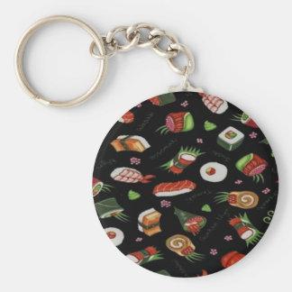 Sushi Basic Round Button Key Ring