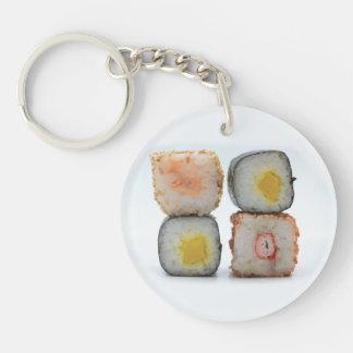 Sushi! Single-Sided Round Acrylic Key Ring