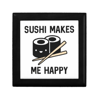 Sushi Makes Me Happy Small Square Gift Box