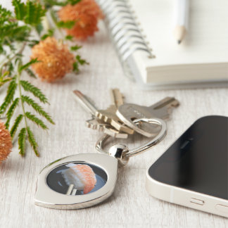Sushi! Silver-Colored Swirl Key Ring
