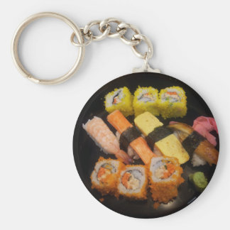 Sushi Raw Food Japanese Meal Delicious Serving Key Chain