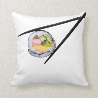Sushi Roll & Chopsticks - Customised Template Cushion