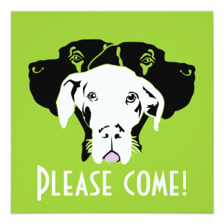 Süße Dogge in weiß 13 Cm X 13 Cm Square Invitation Card