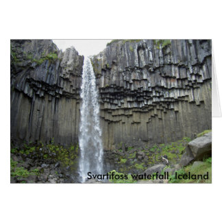 Svartifoss waterfall, Iceland Card
