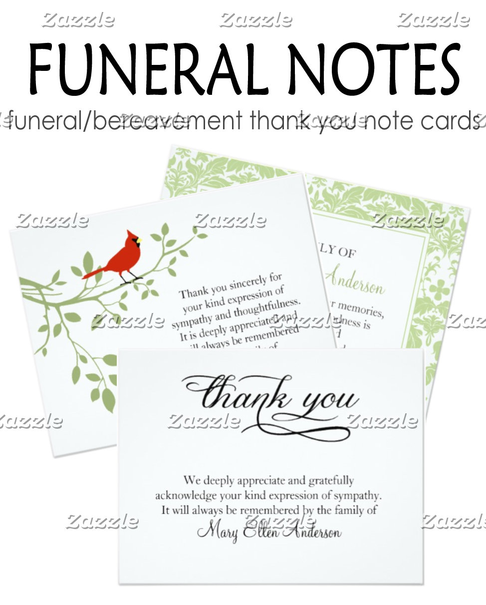 Funeral Note Cards