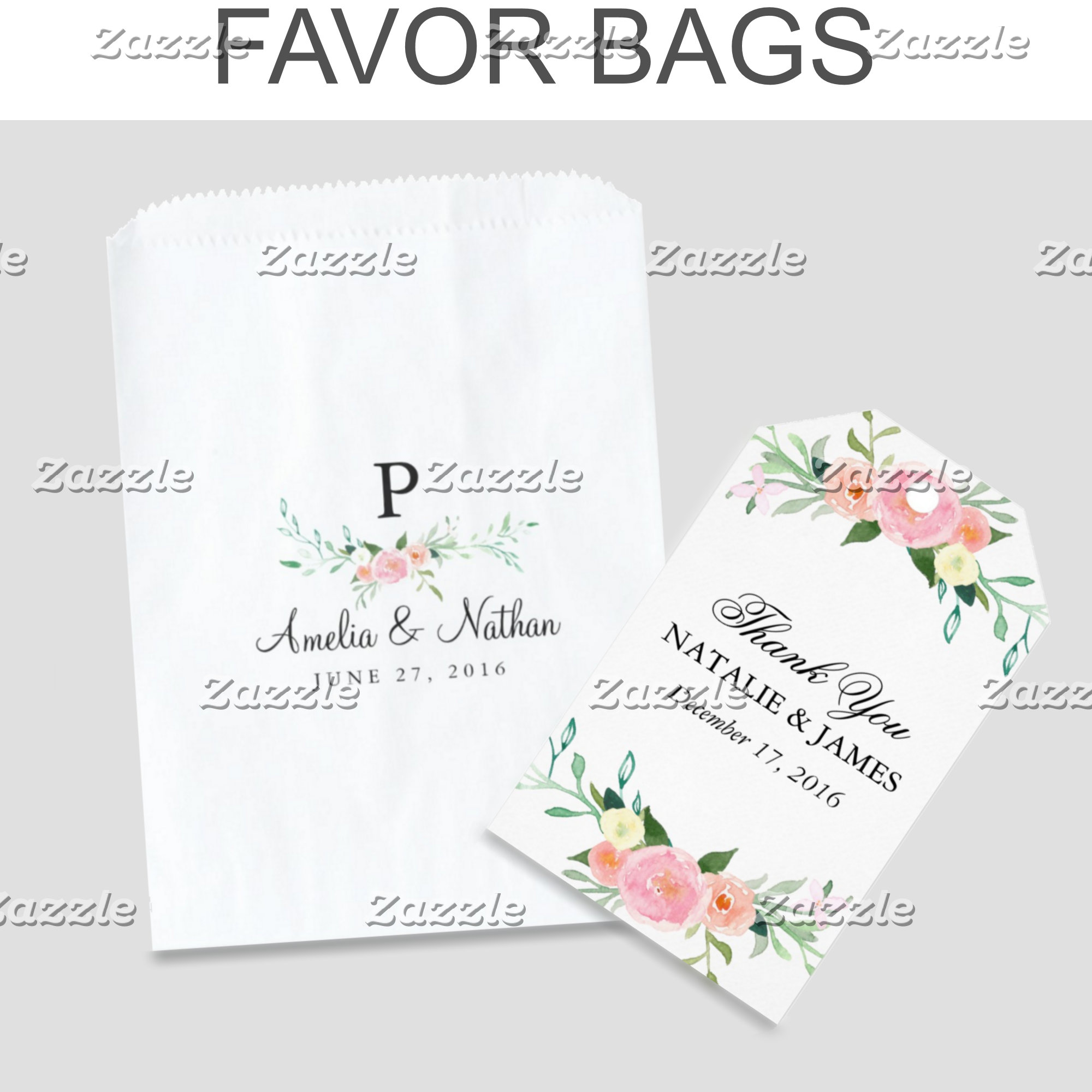 FAVOR BOXES & GIFT BAGS