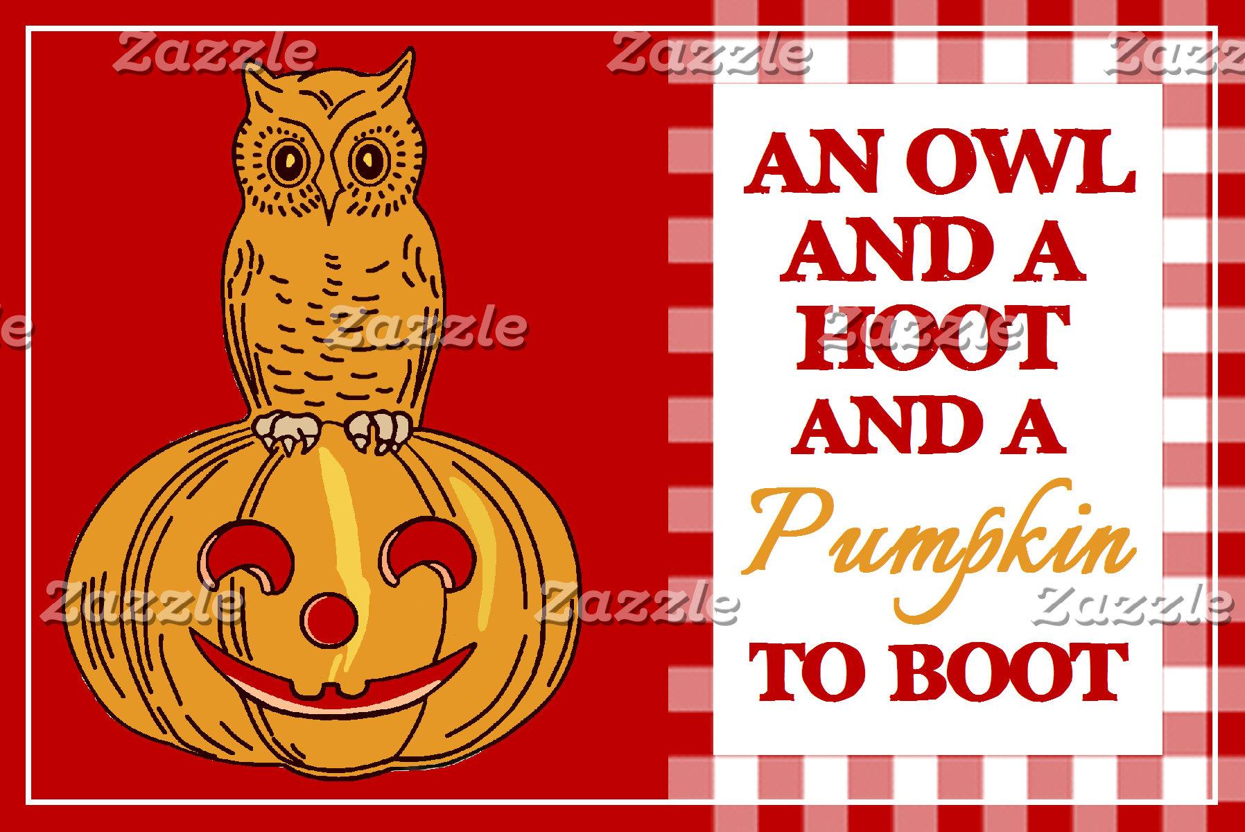 Owl on Pumpkin