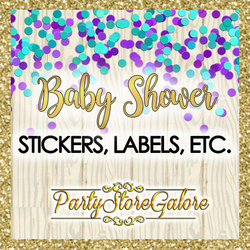 Baby Shower STICKERS, LABELS, ETC.