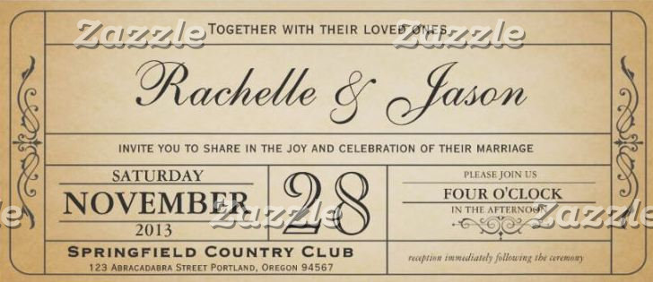 Vintage Wedding Ticket Collection I