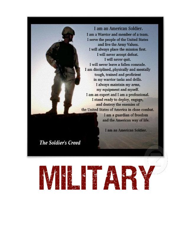 c) military