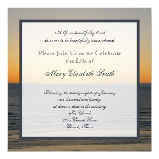 Celebration of Life Invites