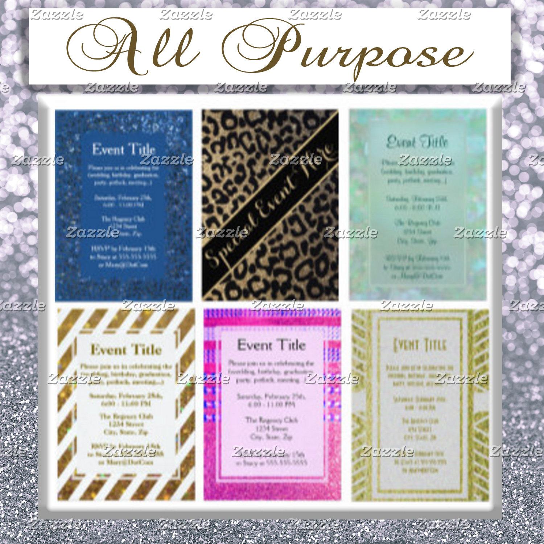Invitations (All Purpose)