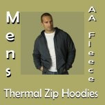 Men's AA Fleece Thermal Zip Hoodies
