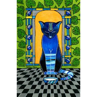 He is Back - Blue Cat Art