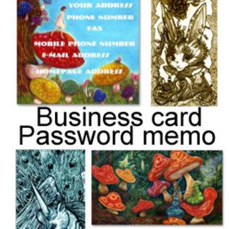 名詞・ミニカードBusiness card・Password memo