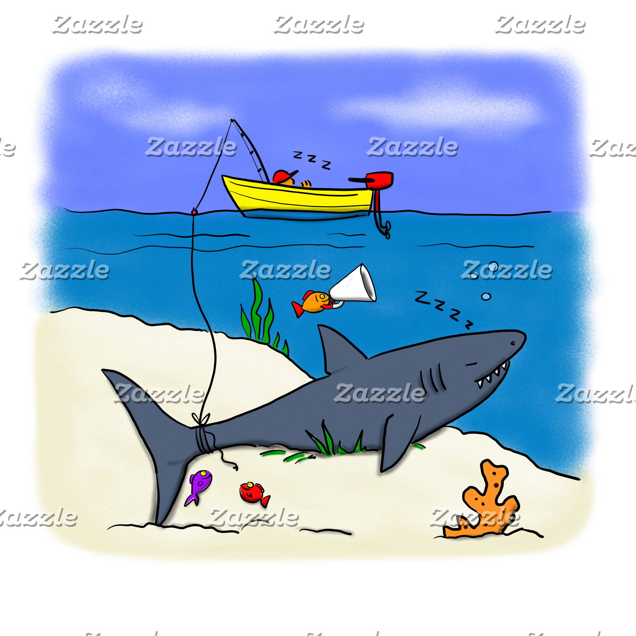 Fish and other underwater Cartoons.