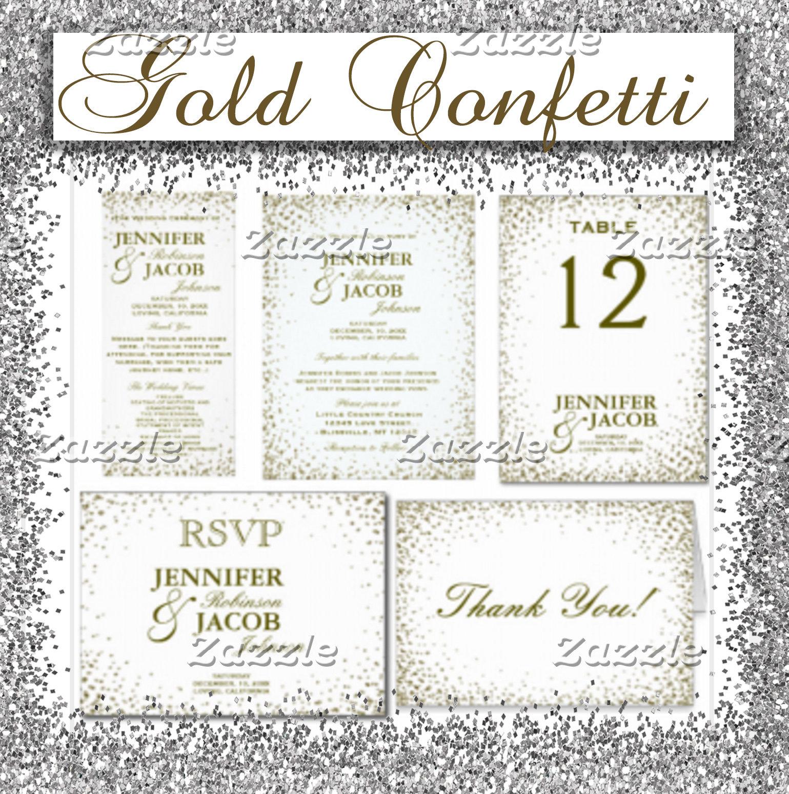 Gold Confetti Collection