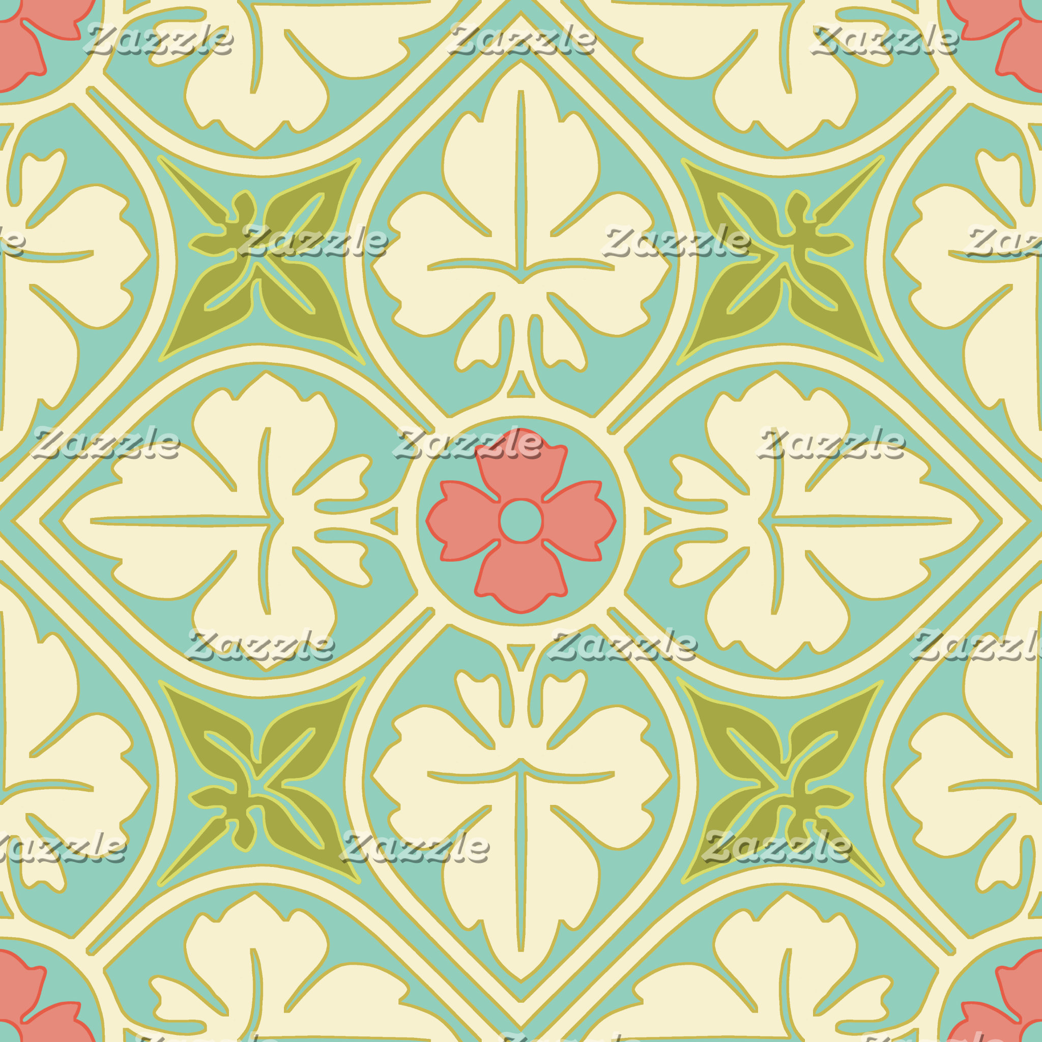 Victorian Floral Leaves Pattern