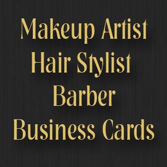 Makeup Artist Hair Stylist Barber Business Cards