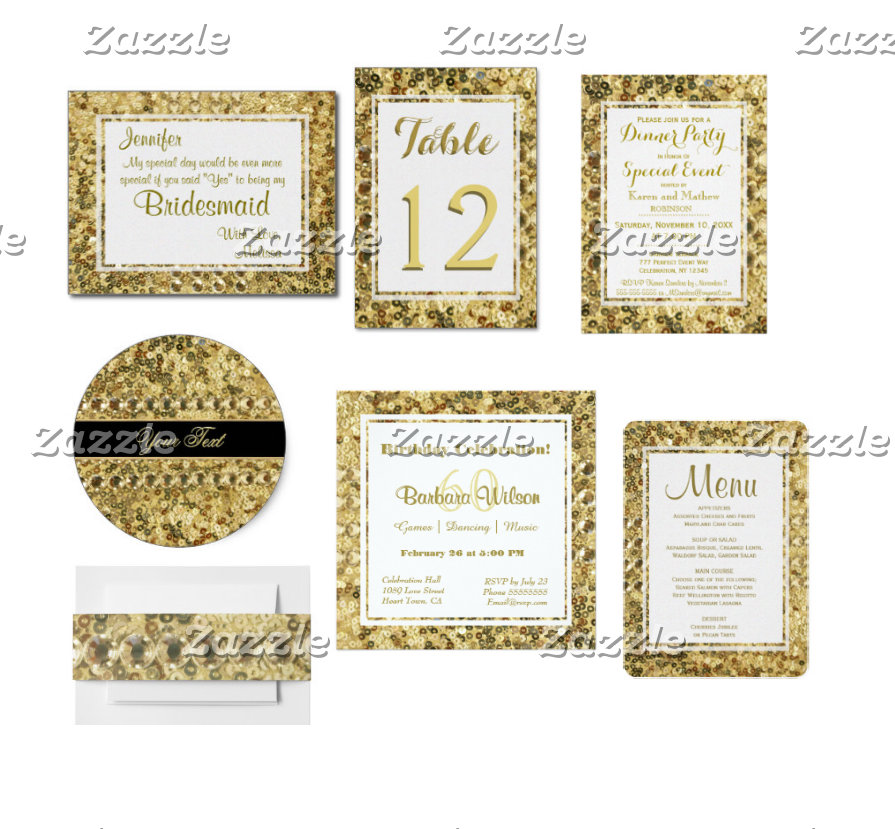Gold Sequin Collection