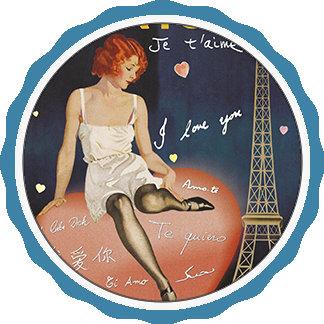 Paris je t' aime, old poster.