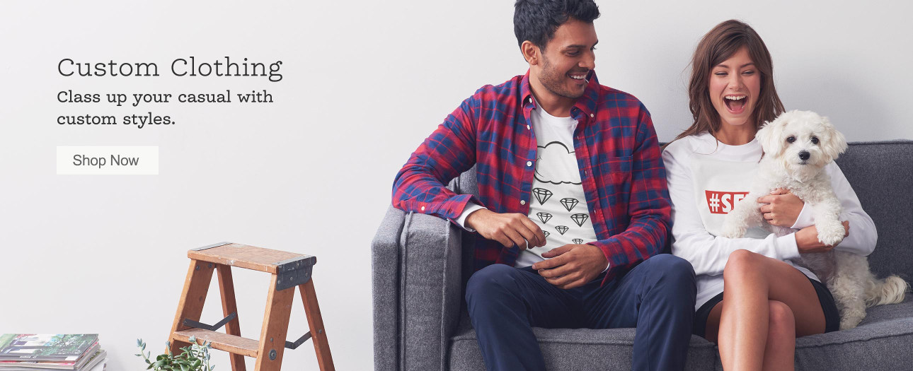 Custom Clothing – Class Up Your Casual with Custom Styles. Shop T-Shirts.