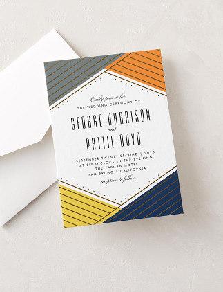 Wedding Invitations - Modern Geometric Wedding Invitation from Zazzle