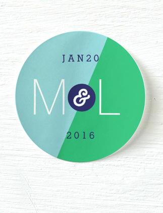 Modern Wedding Stickers