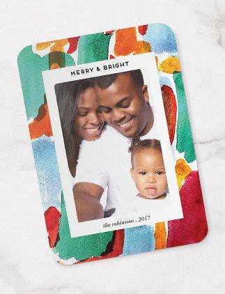 Chrsitmas Cards - Photo, Paint Splash, Christmas Card
