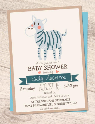 Animal Baby Shower Invites