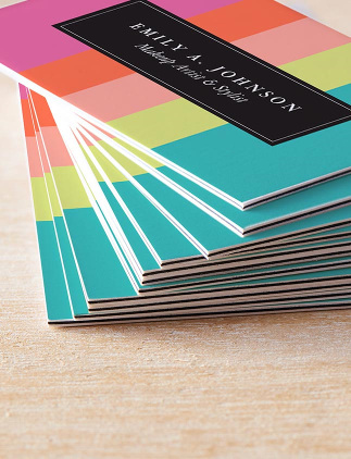 Striped Business Cards