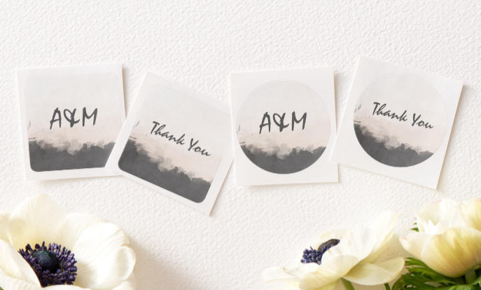Browse our collection of wedding stickers that you can customize!